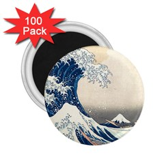 The Classic Japanese Great Wave Off Kanagawa By Hokusai 2 25  Magnets (100 Pack)  by PodArtist