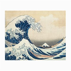 The Classic Japanese Great Wave Off Kanagawa By Hokusai Small Glasses Cloth (2 Side) by PodArtist