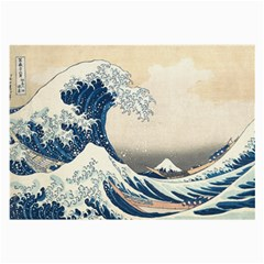 The Classic Japanese Great Wave Off Kanagawa By Hokusai Large Glasses Cloth (2 Side) by PodArtist