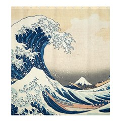 The Classic Japanese Great Wave Off Kanagawa By Hokusai Shower Curtain 66  X 72  (large)  by PodArtist