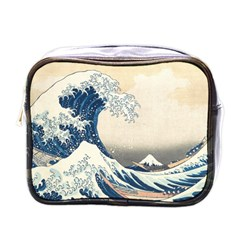 The Classic Japanese Great Wave Off Kanagawa By Hokusai Mini Toiletries Bags by PodArtist