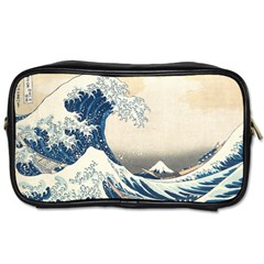The Classic Japanese Great Wave Off Kanagawa By Hokusai Toiletries Bags 2 Side by PodArtist