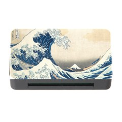 The Classic Japanese Great Wave Off Kanagawa By Hokusai Memory Card Reader With Cf by PodArtist