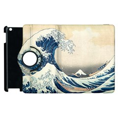 The Classic Japanese Great Wave Off Kanagawa By Hokusai Apple Ipad 2 Flip 360 Case by PodArtist