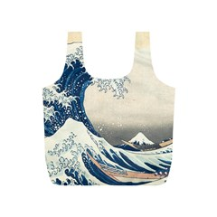 The Classic Japanese Great Wave Off Kanagawa By Hokusai Full Print Recycle Bags (s)  by PodArtist