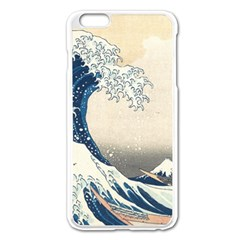 The Classic Japanese Great Wave Off Kanagawa By Hokusai Apple Iphone 6 Plus/6s Plus Enamel White Case by PodArtist