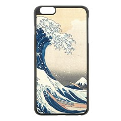 The Classic Japanese Great Wave Off Kanagawa By Hokusai Apple Iphone 6 Plus/6s Plus Black Enamel Case by PodArtist