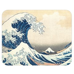The Classic Japanese Great Wave Off Kanagawa By Hokusai Double Sided Flano Blanket (medium)  by PodArtist