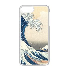 The Classic Japanese Great Wave Off Kanagawa By Hokusai Apple Iphone 7 Plus White Seamless Case by PodArtist