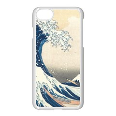 The Classic Japanese Great Wave Off Kanagawa By Hokusai Apple Iphone 7 Seamless Case (white) by PodArtist