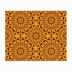 Golden Mandalas Pattern Small Glasses Cloth (2 Side) by linceazul