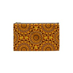 Golden Mandalas Pattern Cosmetic Bag (small)  by linceazul