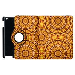 Golden Mandalas Pattern Apple Ipad 2 Flip 360 Case by linceazul