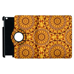 Golden Mandalas Pattern Apple Ipad 3/4 Flip 360 Case by linceazul