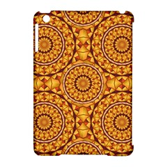 Golden Mandalas Pattern Apple Ipad Mini Hardshell Case (compatible With Smart Cover) by linceazul