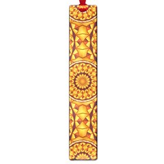 Golden Mandalas Pattern Large Book Marks by linceazul