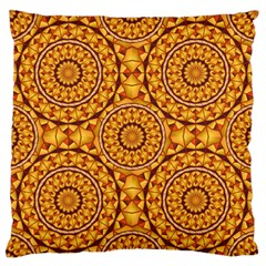 Golden Mandalas Pattern Standard Flano Cushion Case (two Sides) by linceazul