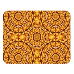 Golden Mandalas Pattern Double Sided Flano Blanket (large)  by linceazul