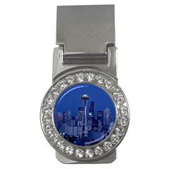 Space Needle Seattle Washington Money Clips (cz)  by Nexatart