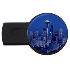 Space Needle Seattle Washington Usb Flash Drive Round (2 Gb)