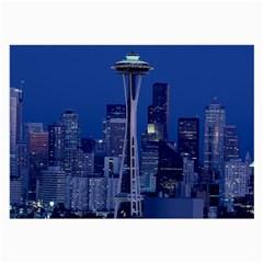 Space Needle Seattle Washington Large Glasses Cloth by Nexatart