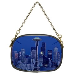 Space Needle Seattle Washington Chain Purses (two Sides)