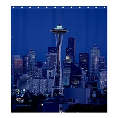 Space Needle Seattle Washington Shower Curtain 66  X 72  (large)  by Nexatart
