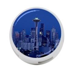 Space Needle Seattle Washington 4 Port Usb Hub (one Side) by Nexatart