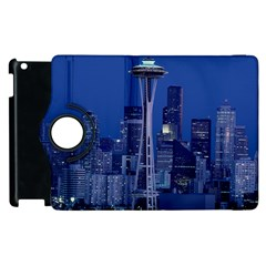 Space Needle Seattle Washington Apple Ipad 2 Flip 360 Case by Nexatart