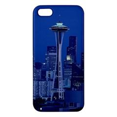 Space Needle Seattle Washington Apple Iphone 5 Premium Hardshell Case