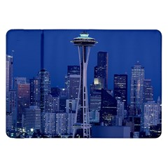 Space Needle Seattle Washington Samsung Galaxy Tab 8 9  P7300 Flip Case by Nexatart