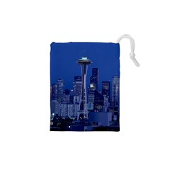 Space Needle Seattle Washington Drawstring Pouches (xs)
