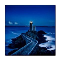 Plouzane France Lighthouse Landmark Tile Coasters