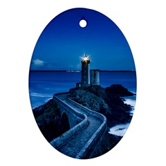 Plouzane France Lighthouse Landmark Ornament (oval)