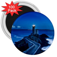Plouzane France Lighthouse Landmark 3  Magnets (100 Pack)