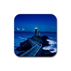 Plouzane France Lighthouse Landmark Rubber Square Coaster (4 Pack)  by Nexatart