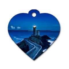 Plouzane France Lighthouse Landmark Dog Tag Heart (one Side)