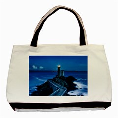 Plouzane France Lighthouse Landmark Basic Tote Bag (two Sides)