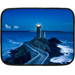 Plouzane France Lighthouse Landmark Fleece Blanket (mini)