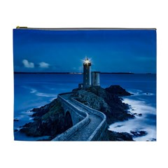 Plouzane France Lighthouse Landmark Cosmetic Bag (xl)