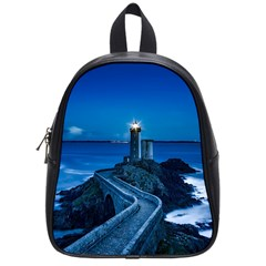 Plouzane France Lighthouse Landmark School Bag (small) by Nexatart