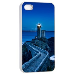 Plouzane France Lighthouse Landmark Apple Iphone 4/4s Seamless Case (white) by Nexatart