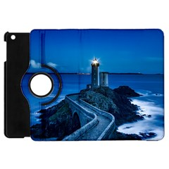 Plouzane France Lighthouse Landmark Apple Ipad Mini Flip 360 Case by Nexatart