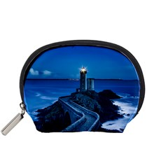 Plouzane France Lighthouse Landmark Accessory Pouches (small)  by Nexatart