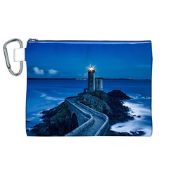 Plouzane France Lighthouse Landmark Canvas Cosmetic Bag (xl) by Nexatart