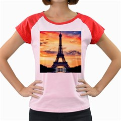 Eiffel Tower Paris France Landmark Women s Cap Sleeve T Shirt