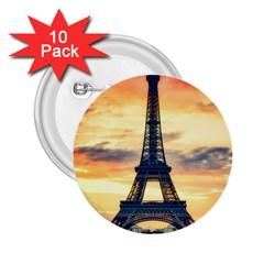 Eiffel Tower Paris France Landmark 2 25  Buttons (10 Pack)