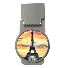 Eiffel Tower Paris France Landmark Money Clips (round)