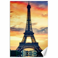 Eiffel Tower Paris France Landmark Canvas 20  X 30