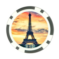 Eiffel Tower Paris France Landmark Poker Chip Card Guard